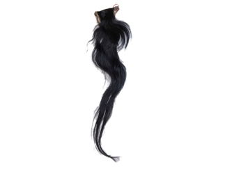 Tanned Horse Tail: Black: Gallery Item