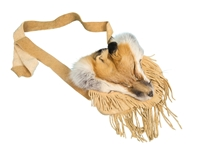 Red Fox Face Bag with Fringe: Gallery Item fox face bags