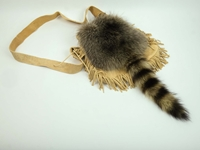 Raccoon Tail Bag with Fringe: Gallery Item
