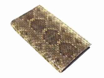 Reddish Real Rattlesnake Skin Wallet: Cowboy: Gallery Item