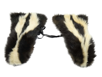 Skunk Mitts: Gallery Item skunk gloves