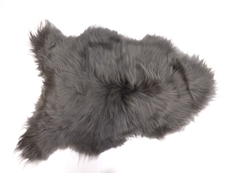 Dyed Icelandic Sheepskin: 90-100 cm: Gray: Gallery Item