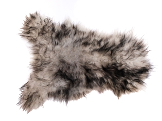 Dyed Icelandic Sheepskin: 90-100 cm: Light Silver Dark Tops: Gallery Item