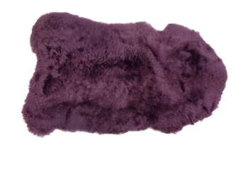 Dyed Icelandic Sheepskin: Shorn: 90-100cm: Lavender: Gallery Item