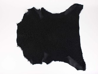 Dyed Garment Grade Broadtail Lambskin: Black Suede: Gallery item